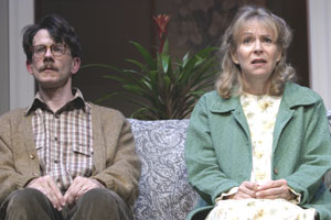 "Keith Reddin and Susan Greenhill in ""The Problem""(Photo © James Leynse)"