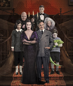Brooke Shields, Roger Rees and company in The Addams Family (Courtesy of the company)