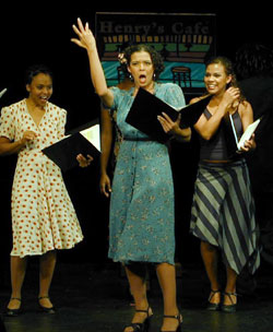 Leslee Warren and cast in Cabin in the Sky(Photo © Michael Portantiere)
