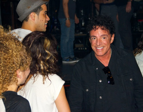 Neal Schon with cast members of Rock of Ages