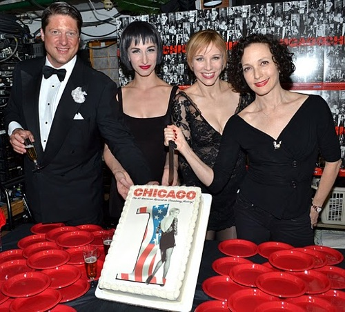 Christopher Sieber, Nikka Graff Lanzarone, Charlotte d'Amboise, and Bebe Neuwirth