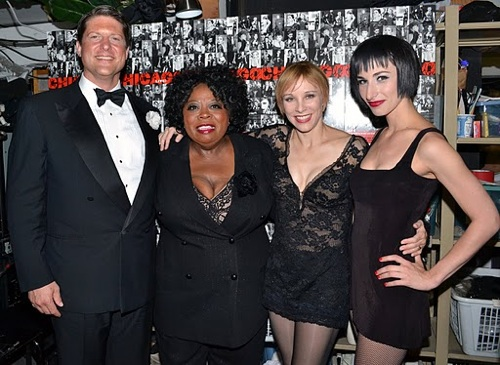 Christopher Sieber, Carol Woods, Charlotte d'Amboise, and Nikka Graff Lanzarone