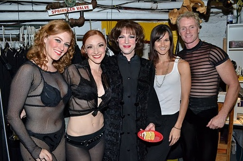 Cast members Dylis Croman, Nili Bassman, T.W. Smith, Jennifer Dunne, and Brian O'Brien