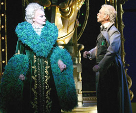 Carole Shelley and Joel Grey in Wicked(Photo © Joan Marcus)