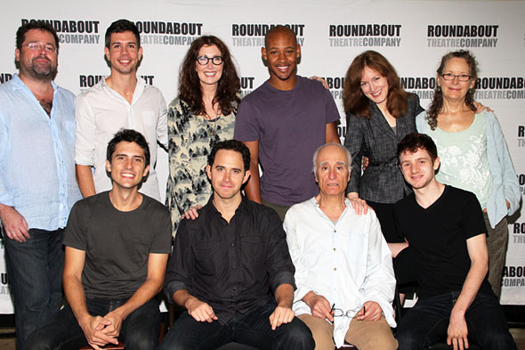 Back: Peter DuBois, Stephen Karam, Joanna Gleason, Jonathan Louis Dent, Dee Nelson, and Lizbeth Mackay