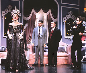 Gary Beach, Matthew Broderick, Nathan Lane,and Roger Bart in The Producers(Photo © Paul Kolnik)
