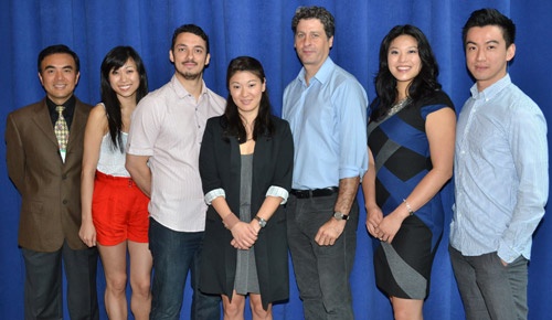 Larry Lei Zhang, Angela Lin, Stephen Pucci, Jennifer Lim, Gary Wilmes, Christine Lin, and Johnny Wu