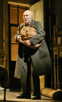 Patrick Stewart in The Caretaker(Photo &copy; Joan Marcus)