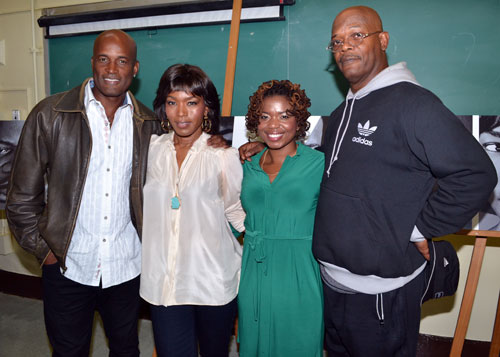 Kenny Leon, Angela Bassett, Katori Hall, and Samuel L. Jackson