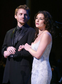 Jason Danieley and Laura Benantiin the Encores! Bash(Photo © Joan Marcus)