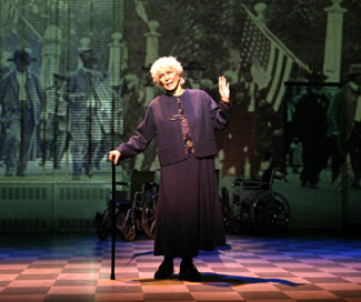 Another shot of Burstyn as the oldest living Confederate widow(Photo © Joan Marcus)