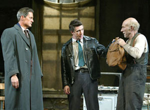 Kyle MacLachlan, Aidan Gillen, and Patrick Stewartin The Caretaker(Photo © Joan Marcus)