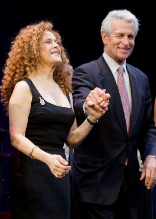 Bernadette Peters and James Naughton