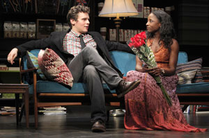 Jonathan Groff and Rutina Wesley in The Submission (© Joan Marcus)