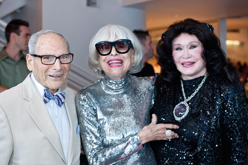 Harry Kullijian, Carol Channing and Barbara Van Orden