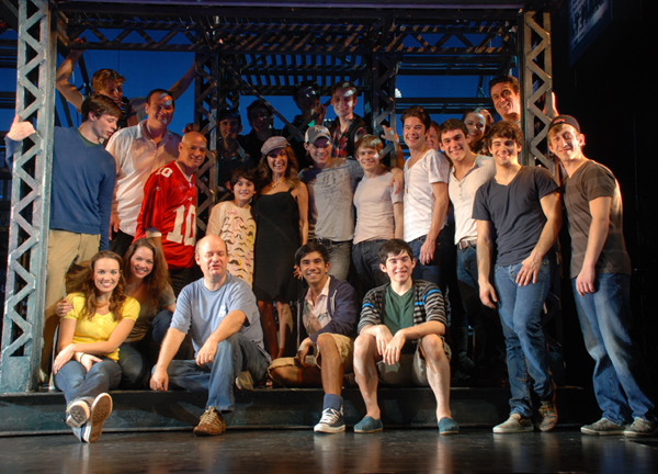 Susan Lucci and the Newsies company