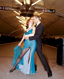 Subways are for dancing!(Photo &copy; Peter Berberian)