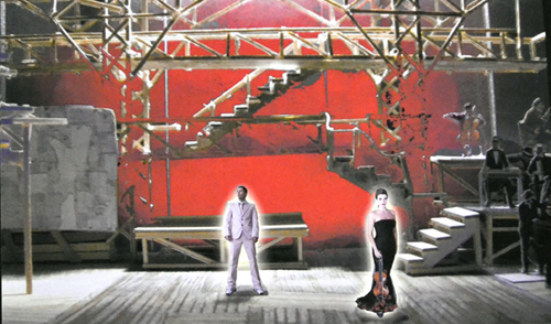 Beowulf Boritt's set rendering for The Blue Flower