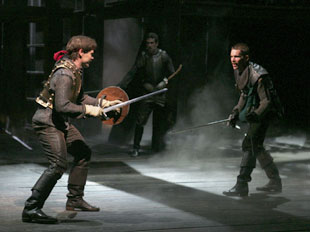 Michael Hayden and Ethan Hawke in Henry IV(Photo &copy; Paul Kolnik)