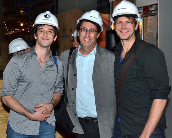 Michael Urie, Tony Kushner, and Bill Heck
