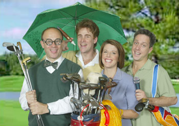 Joel Blum, Sal Viviano, Trisha Rapier, and Christopher Suttonin Golf: The Musical