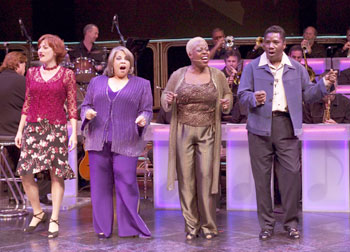 Jennifer Chada, Patti Austin, Lillias White, and Cleavant Derricksin Like Jazz(Photo © Craig Schwartz)