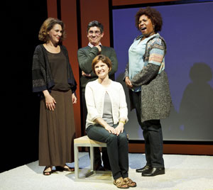 Randy Graff, James Lecesne, Mary Bacon (seated)