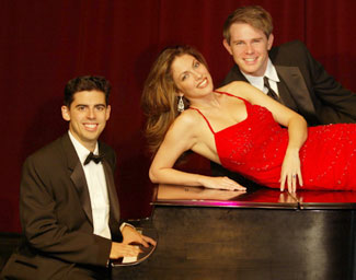 Tony DeSare, Hilary Kole, and Adam James in Our Sinatra(Photo © Carol Rosegg)