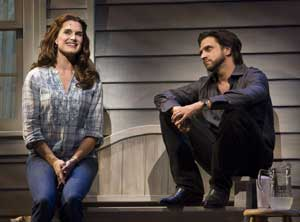 Brooke Shields and Raul Esparza in Leap of Faith