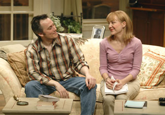 David Aaron Baker and Geneva Carr in Rose's Dilemma(Photo © Carol Rosegg)