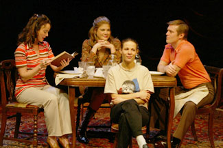 Melissa Errico, Kristen Johnston, Bill Sage, and Lili Taylorin Aunt Dan and Lemon(Photo © Carol Rosegg)