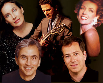 What a team! (clockwise from upper left:)Andrea Marcovicci, John Pizzarelli, Mary Cleere Haran,Ted Sperling, and Rob Fisher