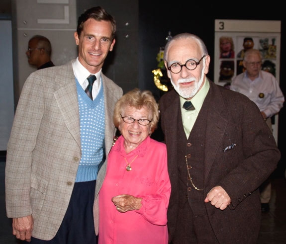 Mark H. Dold, Dr. Ruth, and Martin Rayner