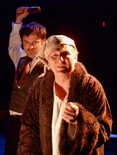 Gary Andrews and J. Anthony Crane inThe Brothers Karamazov, Part II(Photo © Christopher Lukas)
