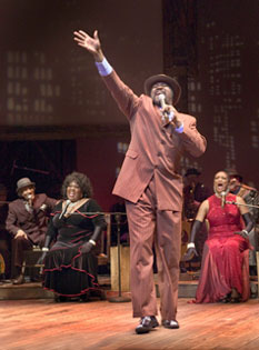 Gregory Porter and the cast ofIt Ain't Nothin' but the Blues(Photo © Tim Fuller)