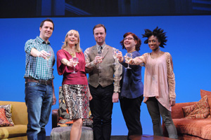 Eric Messner, Kate Eastwood Norris, Tom StoryAshlie Atkinson, and Rachael Holmes in The Book Club Play