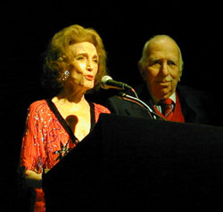 The Browns: Helen Gurley and David(Photo © Michael Portantiere)