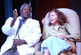 Bill Grimmette and Kathryn Grody in Welcome to My Rash(Photo © Stan Barouh)