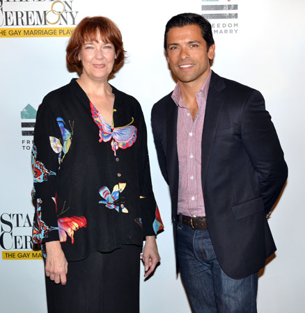 Harriet Harris and Mark Consuelos
