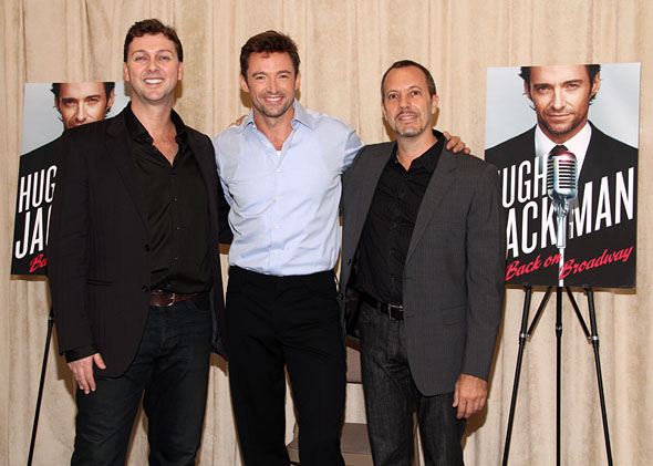 Warren Carlyle, Hugh Jackman, and Patrick Vaccariello