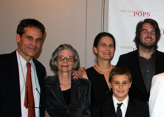 Mary Ellin Barrett (second from left) with other Irving Berlin family members (© New York Pops)
