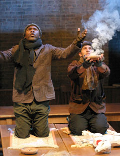 Michael Potts and Mario Campanaroin The Mysteries(Photo © Dixie Sheridan)