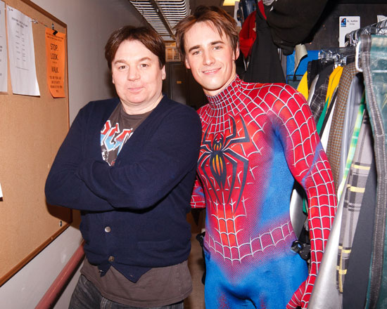 Mike Myers and Reeve Carney