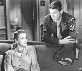 ...with Ronald Reagan in the John Loves Mary film...