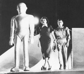 ...with Michael Rennie and the robot Gortin The Day the Earth Stood Still...