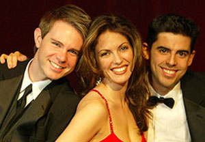 Adam James, Hilary Kole, and Tony DeSare in Our Sinatra(Photo © Carol Rosegg)