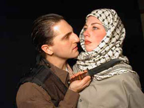 Michael Stock and Alyssa Cartwrightin How His Bride Came to Abraham(Photo © Cynthia Levin)
