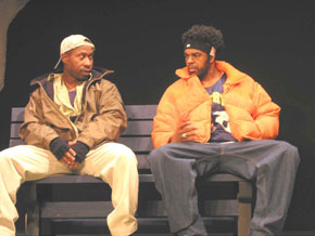 L. Trey Wilson and Marc Ewing in Stage Directions(Photo © Joe Foster)