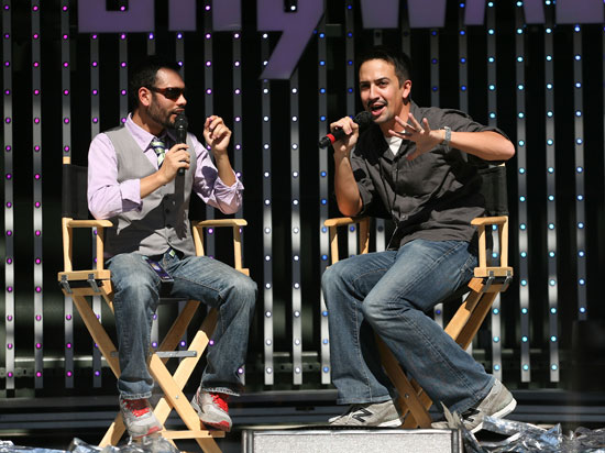 David Valdez and Lin-Manuel Miranda