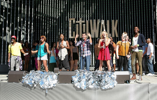 Cast members from Bring It On: The Musical